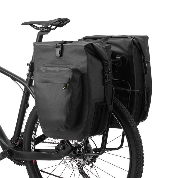 Bike Pannier Bag Water Resistant Bicycle Rear Rack Bag for Cycling Travel Bicycle Saddle Bag