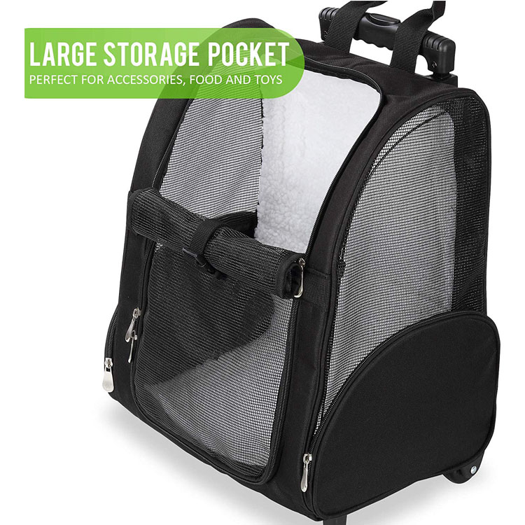 Pet Travel Carrier with Double Wheels
