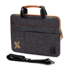 Multi Functional Laptop Sleeve Case Business Briefcase Bag with USB Charging Port Ipad Pouch