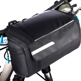 Water Reistant Perfect Size Front Basket Pannier Sturdy Bike Touch Screen Phone Pocket Multi-use Bicycle Handlebar Bag