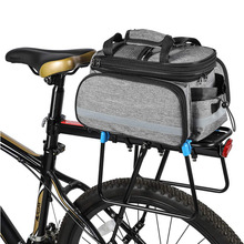 Bike Rear Carrier Rack Bag Multi Function Quick Release Design with Expandable Panniers Bicycle Seat Trunk Bag