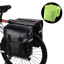 Waterproof Bike Rear Seat Pannier Pack Durable Cycling Road Bicycle Double Bag