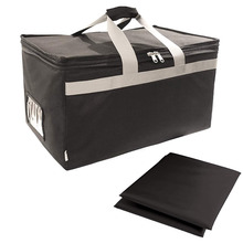 Insulated Food Delivery Bag Carrier With 2 Detachable Dividers