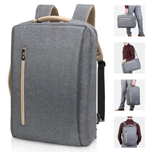 Convertible Messenger Pack Multi Functional Shoulder Briefcase Business College Travel Rucksack Laptop Backpack