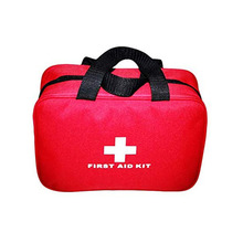 Red First Aid Bag Empty Travel Rescue Bag Empty Pouch First Responder Storage Compact Survival Medicine Bag