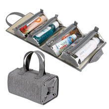 Hanging Roll Up Makeup Kit Travel Organizer Storage Pack Cosmetics Toiletry Bag
