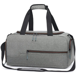 Water Resistant Sports Gym Travel Weekender Duffel Bag with Shoe Compartment