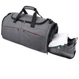Sports Gym Bag Travel Duffel bag with Wet Pocket and Shoes Compartment for men women