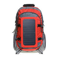 Hiking Solar Backpack with Removable 7 Wall Solar Panel for Smart Phones