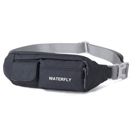 Waterfly Fanny Pack Slim Soft Polyester Water Resistant Waist Bag Pack