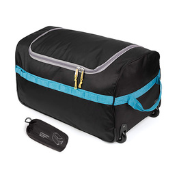 Foldable Collapsible Large Duffel Bag with Rollers for Camping Travel Gear Trolley Bag
