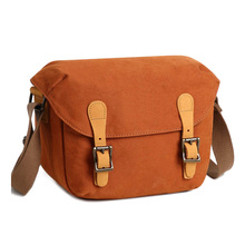 SLR DSLR Shoulder Bag Canvas Removable Inserts Messenger Bag Water Resistant Digital Camera Bag