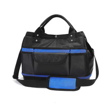 Tool Tote Multi use Tool Storage Bag with Adjustable Shoulder Strap and Waterproof Molded Base