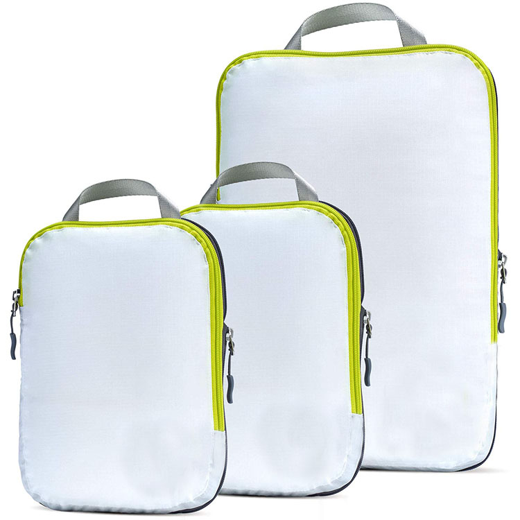 Compression Packing Cubes for Travel Expandable Luggage Organizer