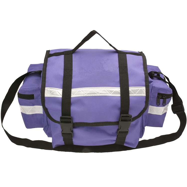 First Aid Responder EMS Emergency Medical Trauma Bag Paramedics Purple