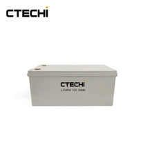 Rechargeable 12v 260ah lifepo4 energy storage battery