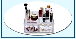Acrylic cosmetic storage box that can be placed at home