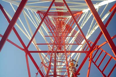 Electrical transmission tubular structure steel pole tower