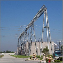 Transmission Supporting Substation Steel Structure