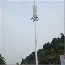 Galvanized steel high mast light pole