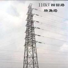Power Angular Lattice 110kv Transmission Line Steel Tower