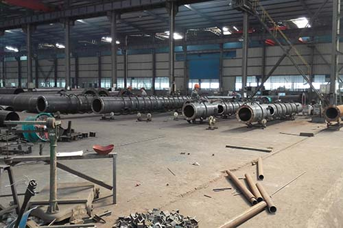 Workshop of our mono pole Microwave galvanization Communication Tower
