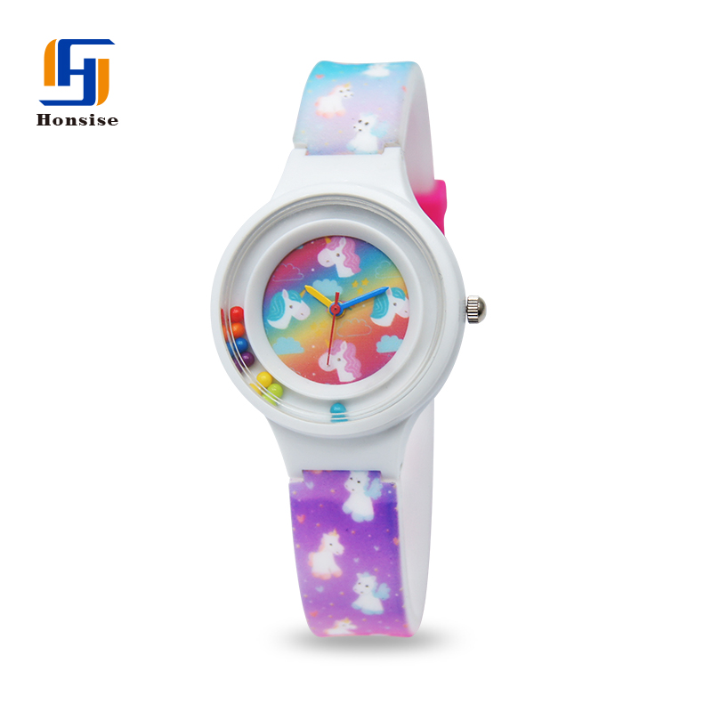 Colorful Cute Unicorn Printing Fancy Private Label Kids Watches