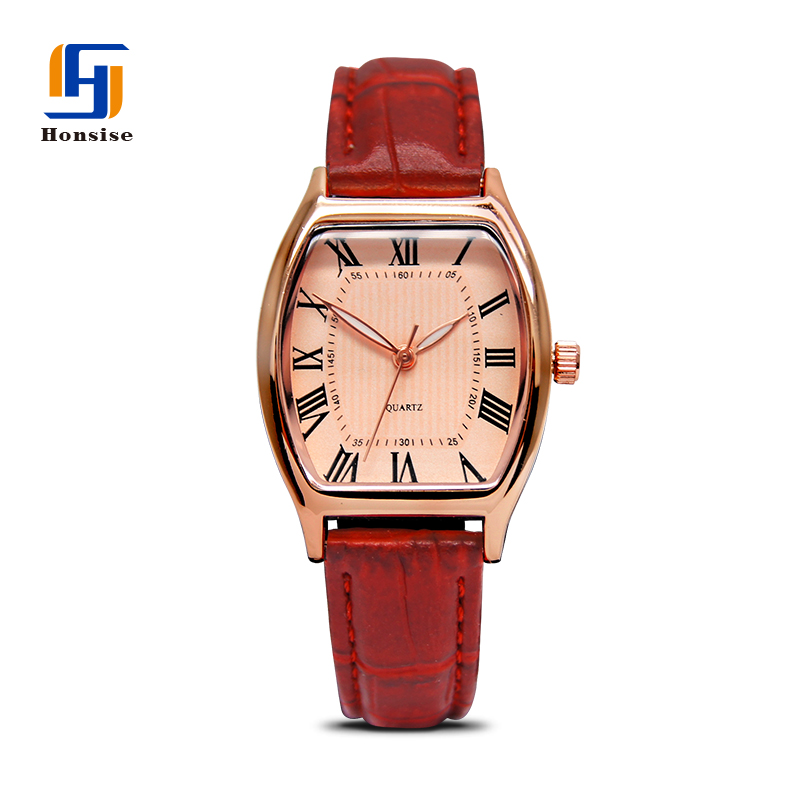 Lady Quartz Leather Square Case Classic Watch