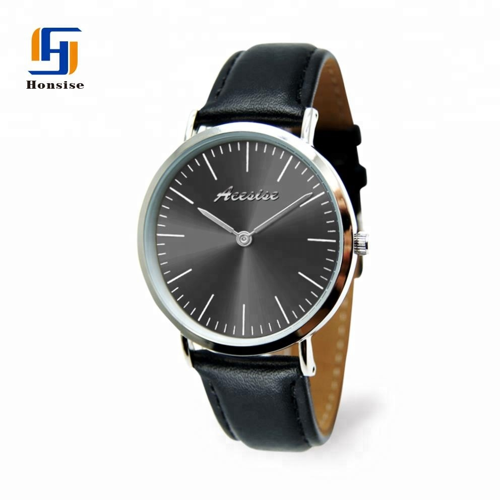 Luxury Style Fashion Ultrathin Dial Personalized Leather Couple Watch