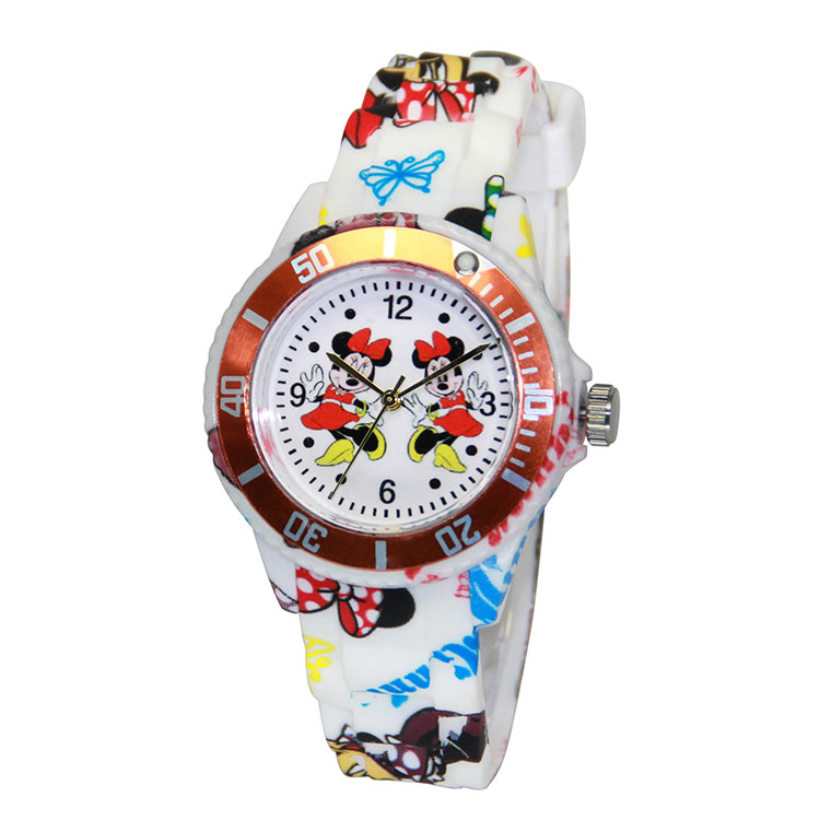 Disney Cartoon Silicone Kid Quartz Watches