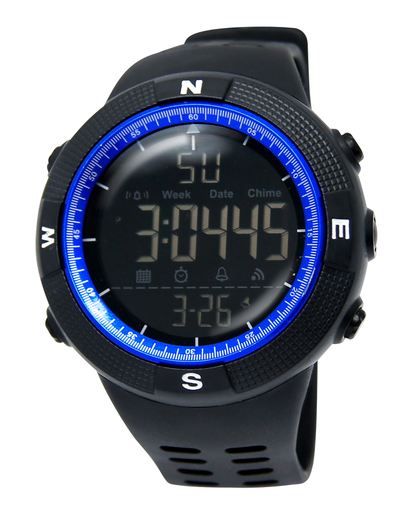 Multifunction Round Watch Face Night Vision Sport Digital Lcd Watch For Men
