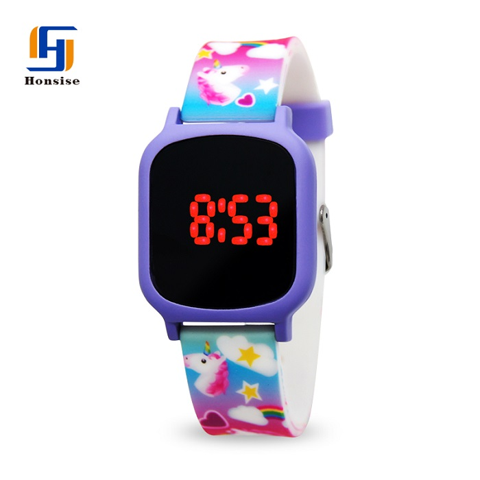 Custom Unicorn Colorful Led Watch For Children