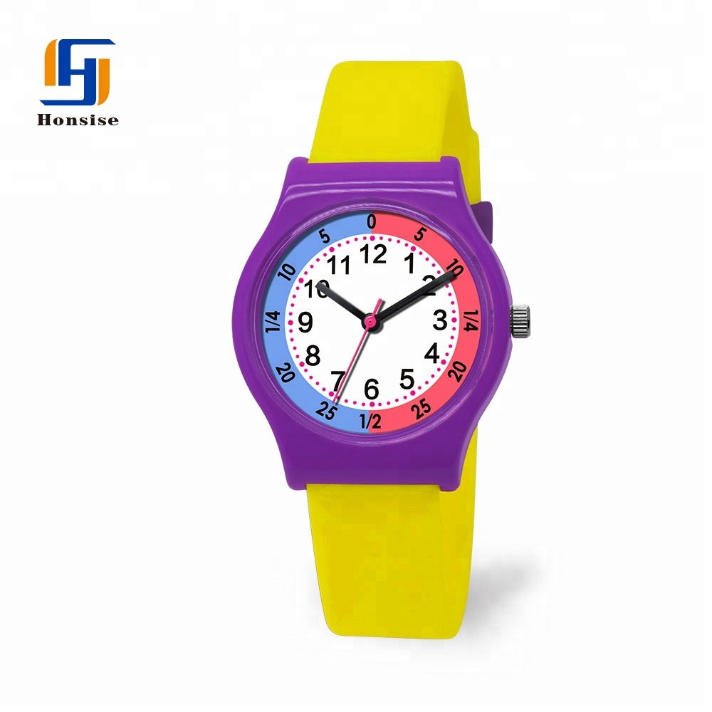 Cartoon kids Quartz Time Teaching Watches