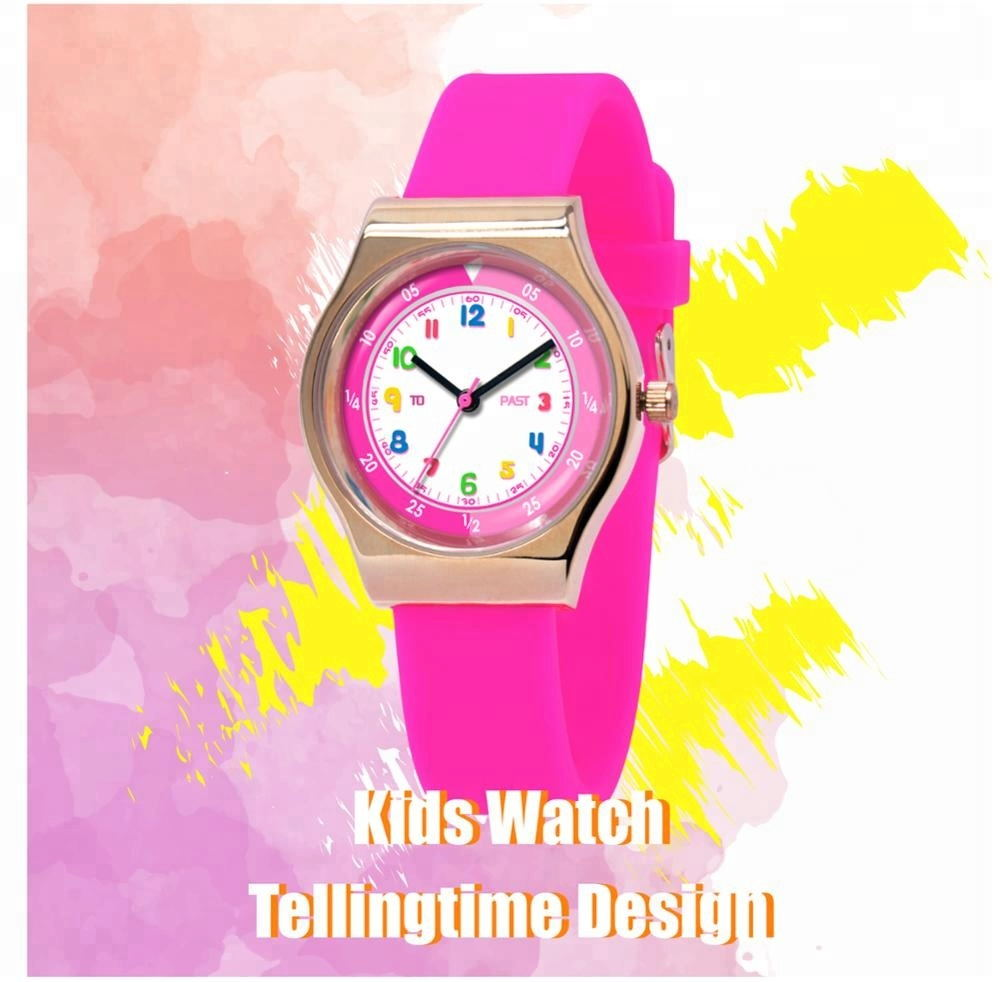 Factory Price Cartoon kids Quartz Time Teaching Watches