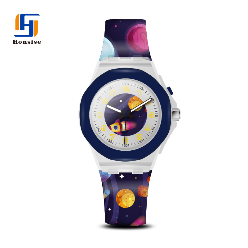 2020 Custom Silicone Gift Rubber Watch Strap Kids Plastic Light Watch