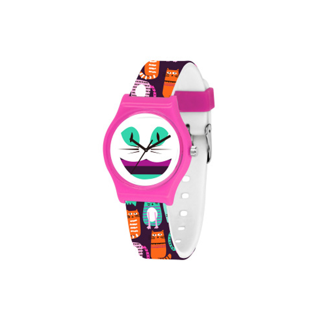 Children Fashion Fancy Silicone Plastic Cute kids Cartoon Quartz Watches