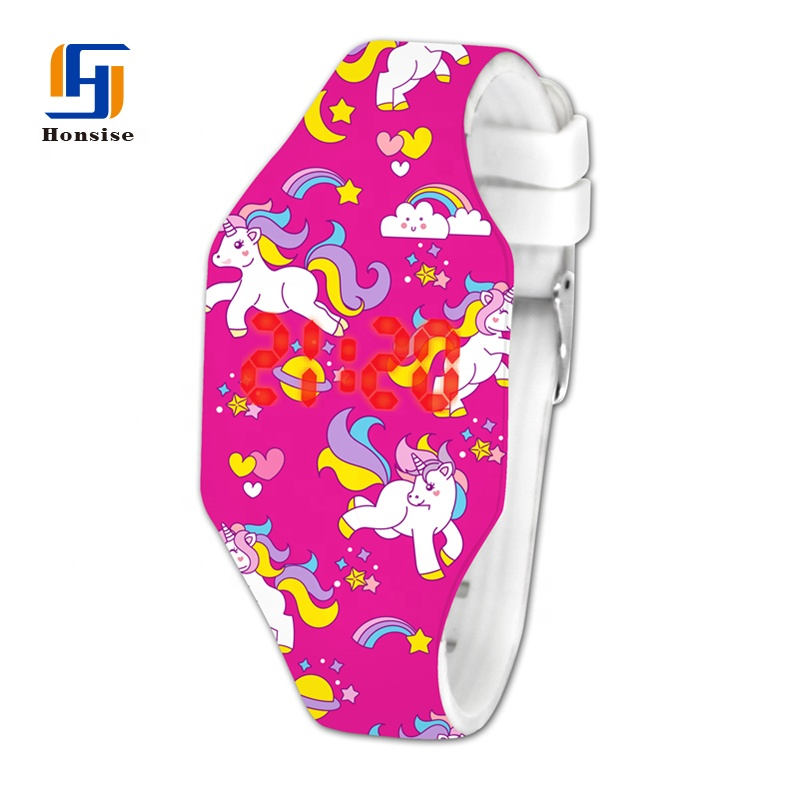 NEW China Pattern Printed Fashion Silicone LED Digital Watch For Kids