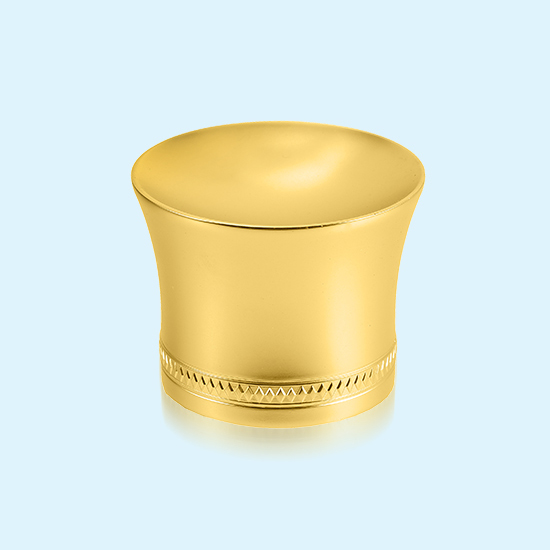 Custom-made Zinc Alloy Die Casting Decorative Hardware —wine Bottle Cap With Golden Plated