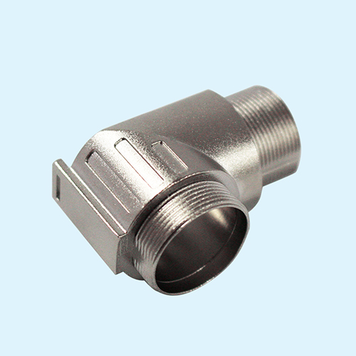 Custom zinc alloy die casing M12 elbow union metal connector housing in China