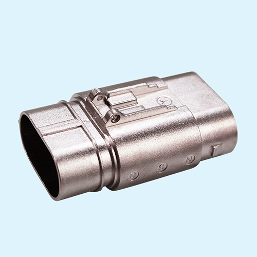 Professional Custom Zinc Alloy Die Casting Two Core High Current Connector Housing