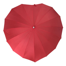 wholesale heart shape straight umbrellas for wedding