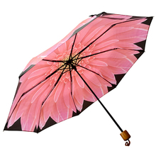 China Manufacturer nice flower three fold umbrella