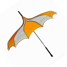 White and orange parapluie Sunshine Shadow