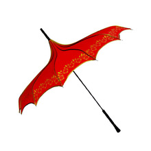 Red pogoda umbrella for selling