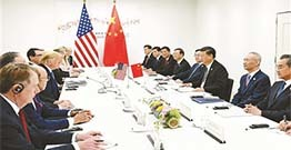China us economic and trade relations ease global market gains