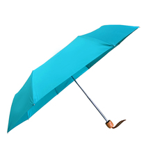 Promotional Custom Printed Three-folding Mini Manual Open Travel Umbrella for man