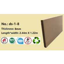 8mm Fire Resistant Water Resistant EPA CARB Wood Fiber Board