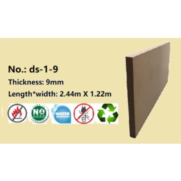 9mm Fire Resistant Water Resistant EPA CARB Wood Fiber Board