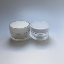 Acrylic plastic white cream jar