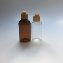 Cosmetic flip cap color bottle